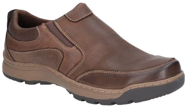 Hush Puppies Jasper Slip On Mens Shoes Brown